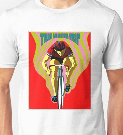 TWO WHEEL TRIP; Vintage Bicycle Racing Print Unisex T-Shirt