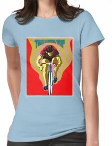 TWO WHEEL TRIP; Vintage Bicycle Racing Print Womens Fitted T-Shirt
