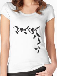 CAW CAW Women's Fitted Scoop T-Shirt