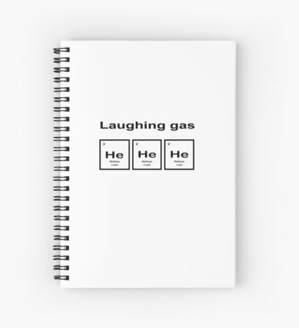 Laughing Gas Spiral Notebook