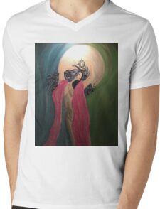 Luna Chick Mens V-Neck T-Shirt