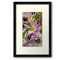 Lovely Cheerful Lavender Bouquet Framed Print