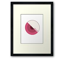 """modernism!"" pink Framed Print"