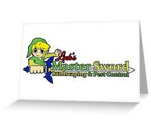 Links Master Sword Landscaping Greeting Card