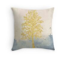 Golden Tree of Life Throw Pillow