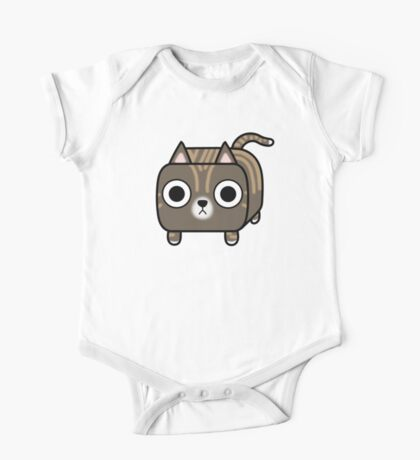 Cat Loaf - Brown Tabby Kitty One Piece - Short Sleeve