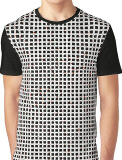 Black White Red Abstract Pattern Graphic T-Shirt
