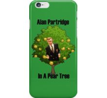 Alan Partridge in a pear tree. iPhone Case/Skin