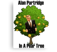 Alan Partridge in a pear tree. Canvas Print
