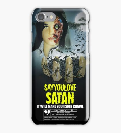 Say You Love Satan 80s Horror Podcast - Phenomena iPhone Case/Skin