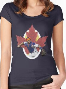 Russell Martin - Flower Crown Women's Fitted Scoop T-Shirt