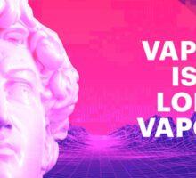 vaporwave is dead long live vaporwave Sticker