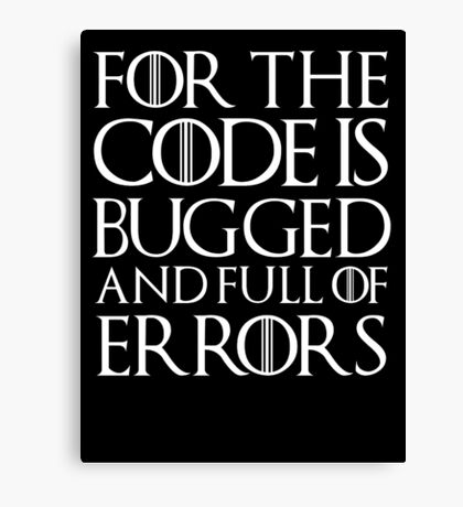 for the code  Canvas Print
