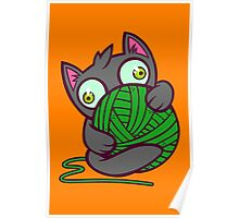 Kitty and Yarn Poster