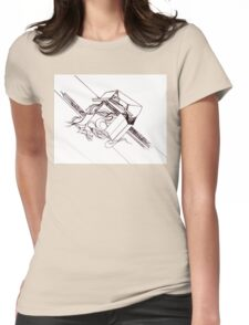Multi Dimensional Abstract Ink  Womens Fitted T-Shirt