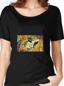 Mysterious Girl Looking Down (Coloured) Women's Relaxed Fit T-Shirt