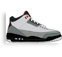 """Air Jordan III (3) """"Stealth"""" Canvas Print"""