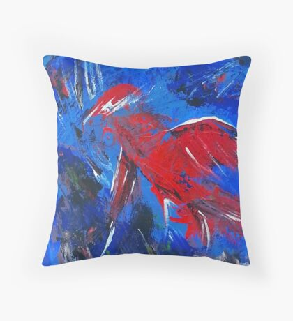 Bird in Flight over Water Throw Pillow