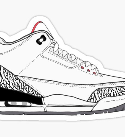 "Air Jordan III (3) ""White Cement"" Sticker"