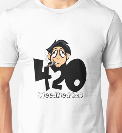 420 WeedHed Stoner Guy Unisex T-Shirt