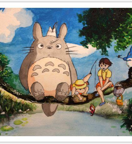 Studio Ghibli Watercolor Painting Sticker