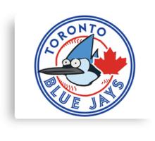 A Regular Blue Jay Canvas Print