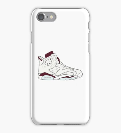 "Air Jordan VII (6) ""Maroon"" iPhone Case/Skin"