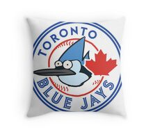 A Regular Blue Jay Throw Pillow