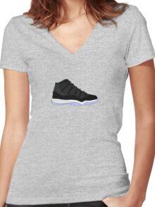 "Air Jordan XI (11) ""Space Jam"" Women's Fitted V-Neck T-Shirt"