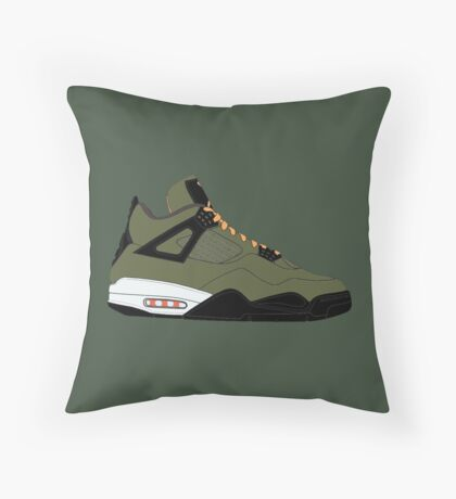 "Air Jordan IV (4) ""Undefeated"" Throw Pillow"