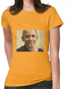 smiling obama merchandise Womens Fitted T-Shirt