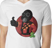 RED Pyro Mens V-Neck T-Shirt
