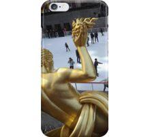 Rockefeller Center Sculpture and Skating Rink, New York City iPhone Case/Skin
