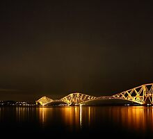 Firth of Forth Railway Bridge, Forth Road Bridge and the Big Dipper by Maria Gaellman