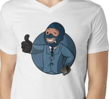 BLU Spy Mens V-Neck T-Shirt
