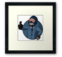 BLU Vault Spy Framed Print