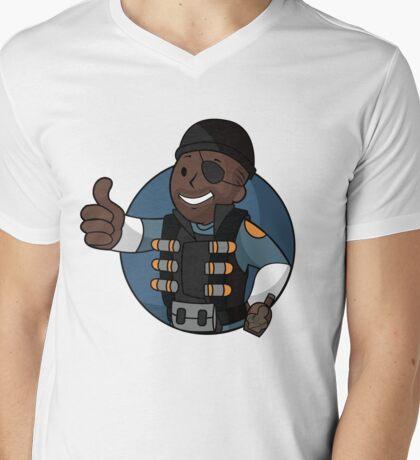 BLU Demo Mens V-Neck T-Shirt