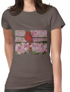 Cardinal in spring Womens Fitted T-Shirt