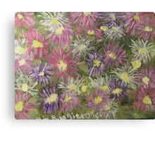 Fireworks Flowers Canvas Print