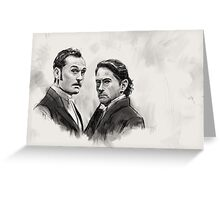 Downey Jr. and Law Greeting Card