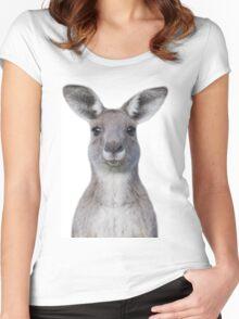 Cute baby kangaroo Women's Fitted Scoop T-Shirt