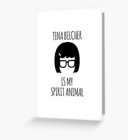 Tina Belcher Spirit Animal Greeting Card