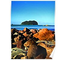 Little Island and Rocks Poster