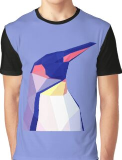 Low Poly Penguin Portrait Graphic T-Shirt