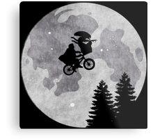 Xenomorph ET Moon Ride Metal Print