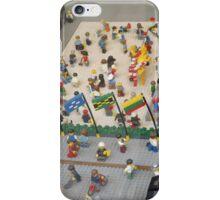 Lego Rockefeller Center Skating Rink, Lego Rockefeller Center Store, New York City iPhone Case/Skin