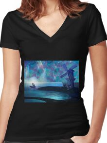 The Wonders of the Sky Women's Fitted V-Neck T-Shirt