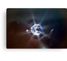 The World in the Palm of Your Hand. Canvas Print