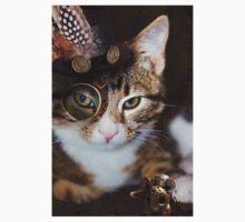 Steampunk Funny Cute Cat T-Shirt