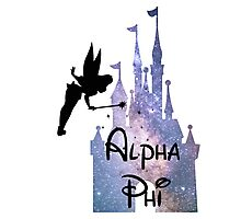 Alpha Phi Disney Castle Photographic Print